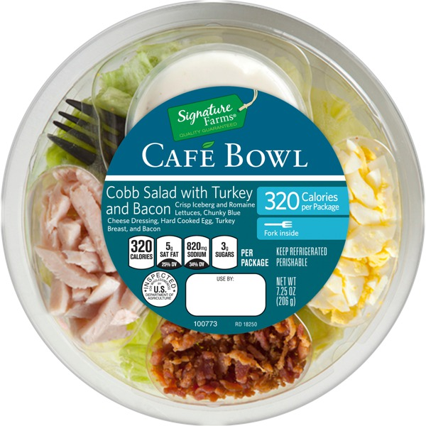 Signature Farms Cobb Salad With Turkey And Bacon Cafe Bowl 1source