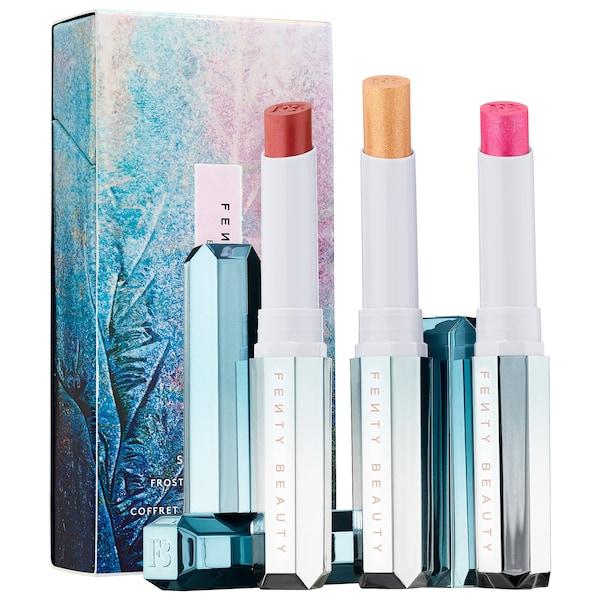 FENTY BEAUTY By Rihanna Snow Daze & Snow Nights Frosted Metal Lipstick 3-Pc Set