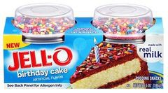 Brilliant Jell O Birthday Cake Pudding Snacks 1Source Personalised Birthday Cards Veneteletsinfo