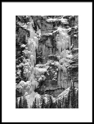 Buy this art print titled Cliff and Ice by the artist Rob Corkran