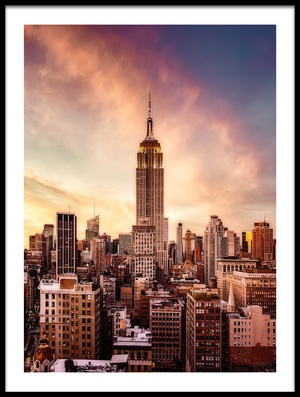 Buy this art print titled Midtown Sunset by the artist Javier de la Torre