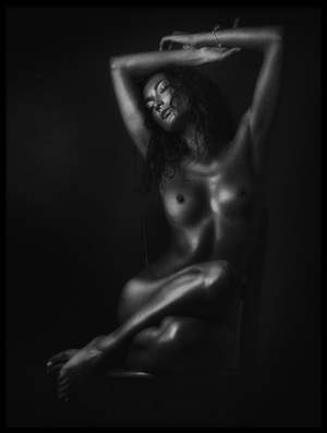 Buy this art print titled Nude In Black by the artist Zachar Rise