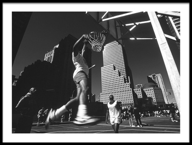 Buy this art print titled Dunking (from the Series Metropolis) by the artist Dieter Matthes