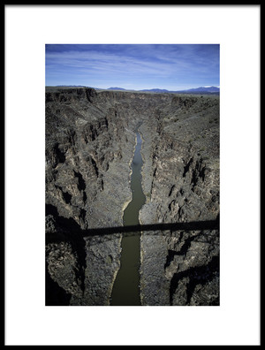 Buy this art print titled Taos Gorge by the artist Rob Corkran