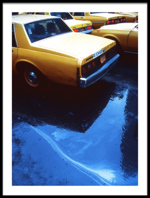 Buy this art print titled Yellow Cabs (from the Series New York Blues) by the artist Dieter Matthes