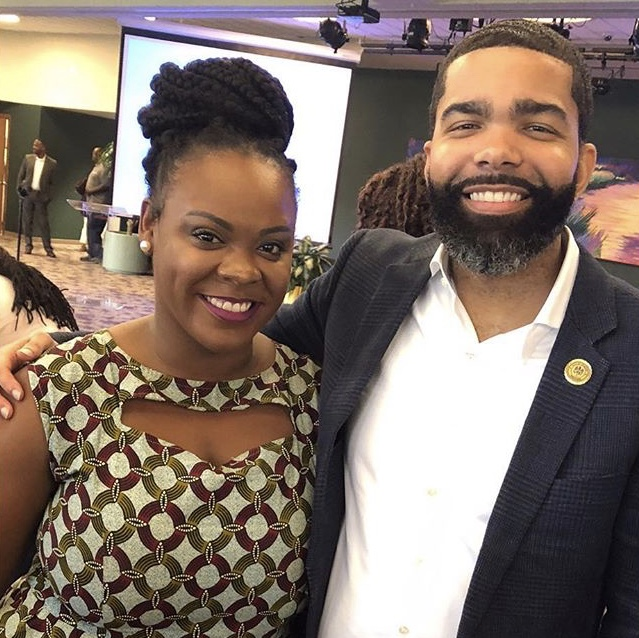 Arekia Bennett with mentor and friend, Mayor Chokwe Lumumba / Arekia Bennett