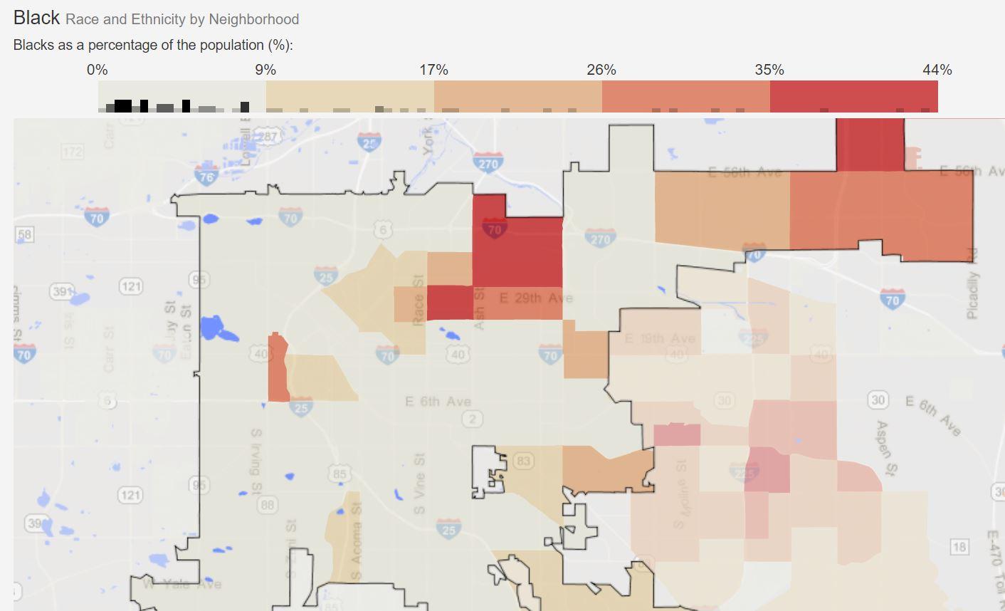Demographic Statistical Atlas/Race and Ethnicity in Denver, Colorado (City)