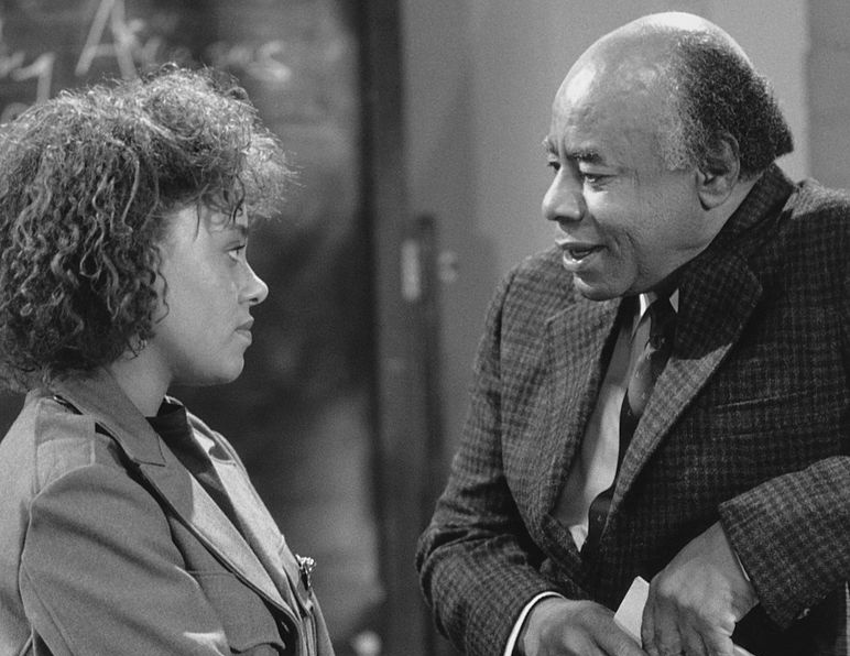 Pictured: (l-r) Cree Summer as Winifred 'Freddie' Brooks, Roscoe Lee Browne as Dr. Barnabus Foster/Credit: NBCU Photo Bank