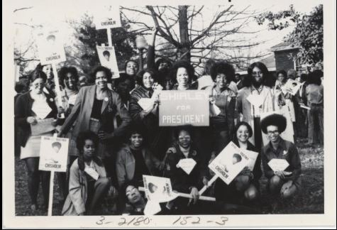 Shirley Chisholm visited Bennett College in 1985/Photo Credit: News & Record 1985 File
