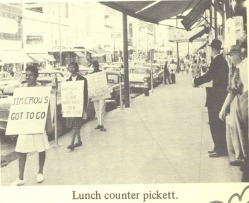 """Bennett Belles protested for social and racial justice during the Woolworth lunch counter sit-in in 1960/Photo Credit: """"The Bennett Belle"""" 1973 Yearbook"""