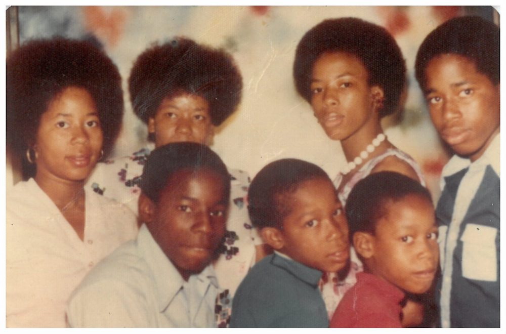 A young Eric Adams with his family. / Eric Adams