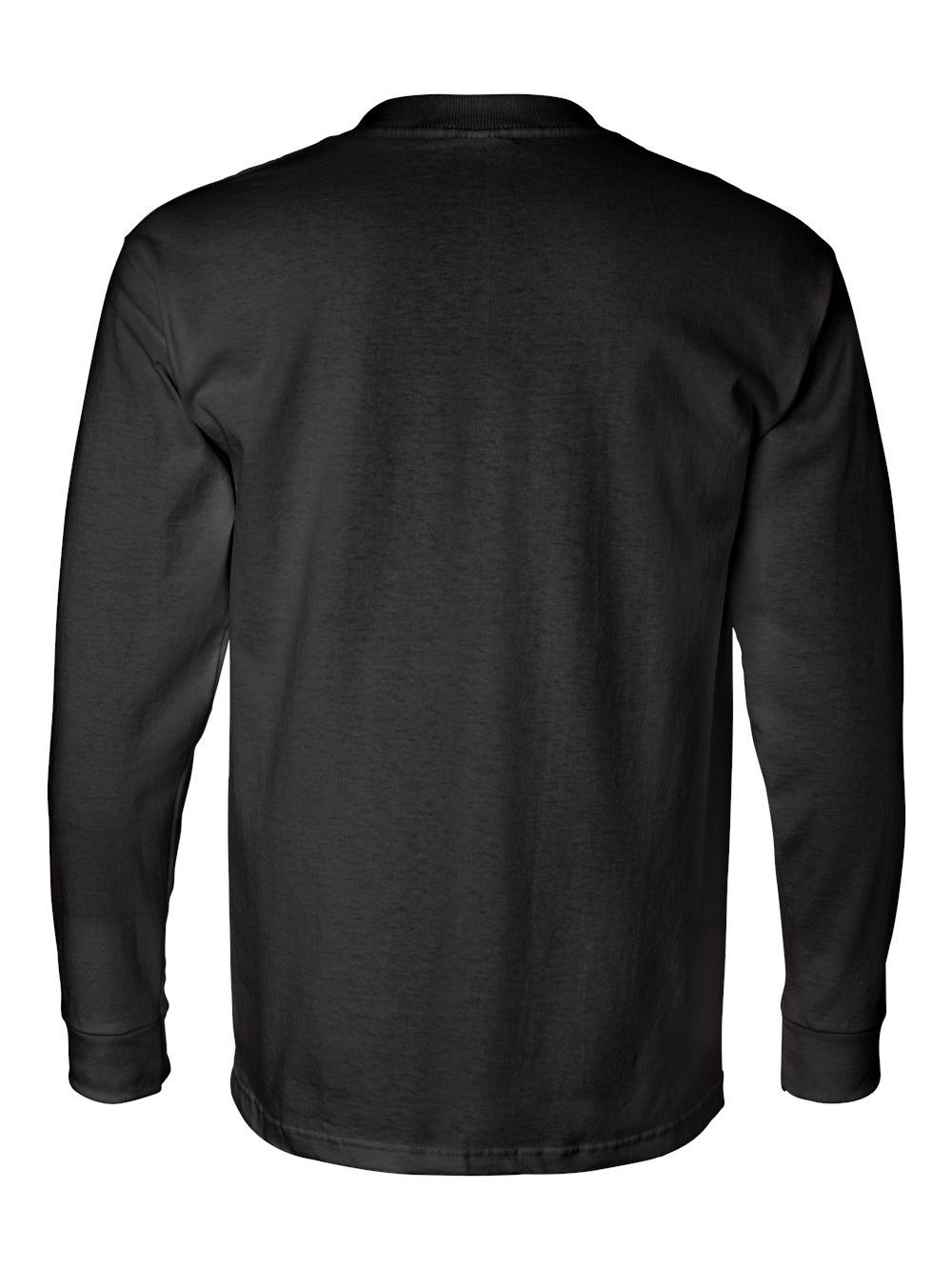 Bayside-USA-Made-Long-Sleeve-T-Shirt-with-a-Pocket-8100 thumbnail 7