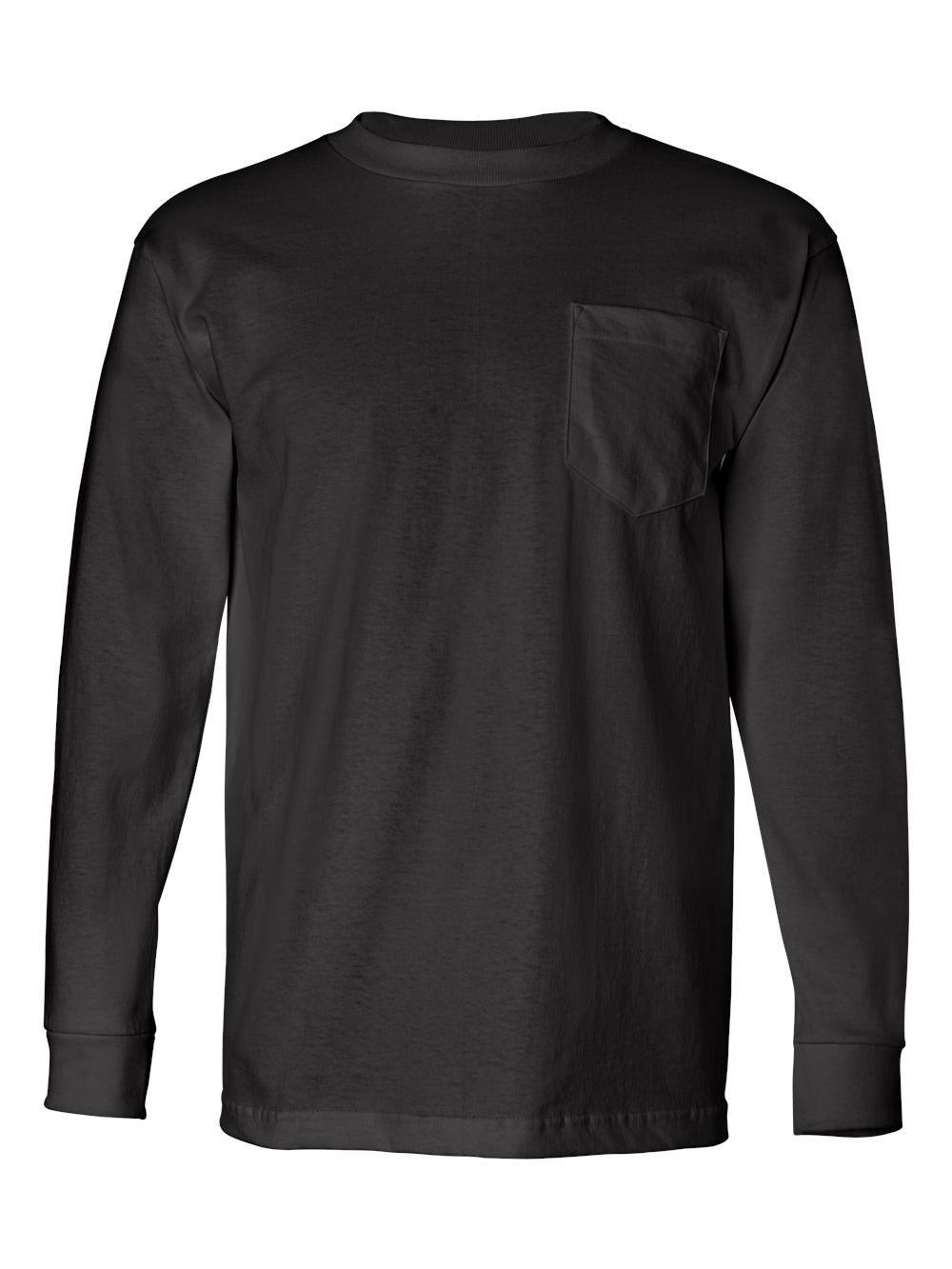 Bayside-USA-Made-Long-Sleeve-T-Shirt-with-a-Pocket-8100 thumbnail 6