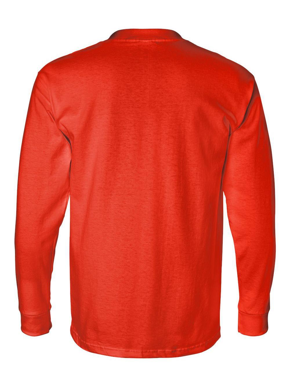 Bayside-USA-Made-Long-Sleeve-T-Shirt-with-a-Pocket-8100 thumbnail 19