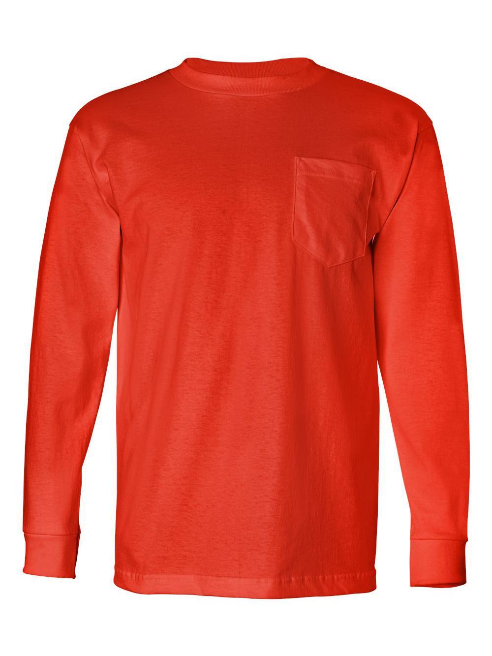 Bayside-USA-Made-Long-Sleeve-T-Shirt-with-a-Pocket-8100 thumbnail 18