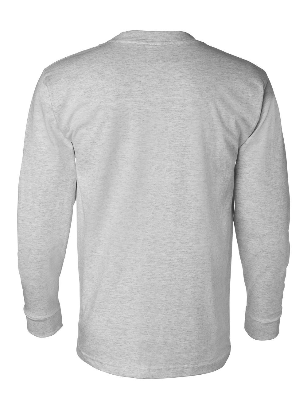 Bayside-USA-Made-Long-Sleeve-T-Shirt-with-a-Pocket-8100 thumbnail 10