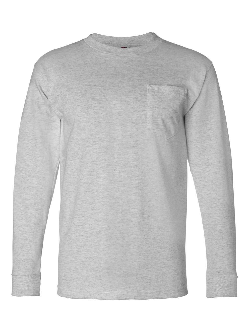 Bayside-USA-Made-Long-Sleeve-T-Shirt-with-a-Pocket-8100 thumbnail 9