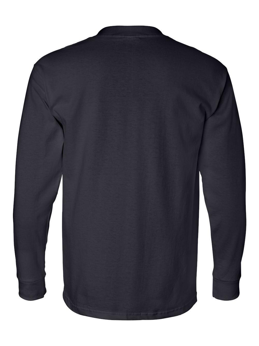 Bayside-USA-Made-Long-Sleeve-T-Shirt-with-a-Pocket-8100 thumbnail 16