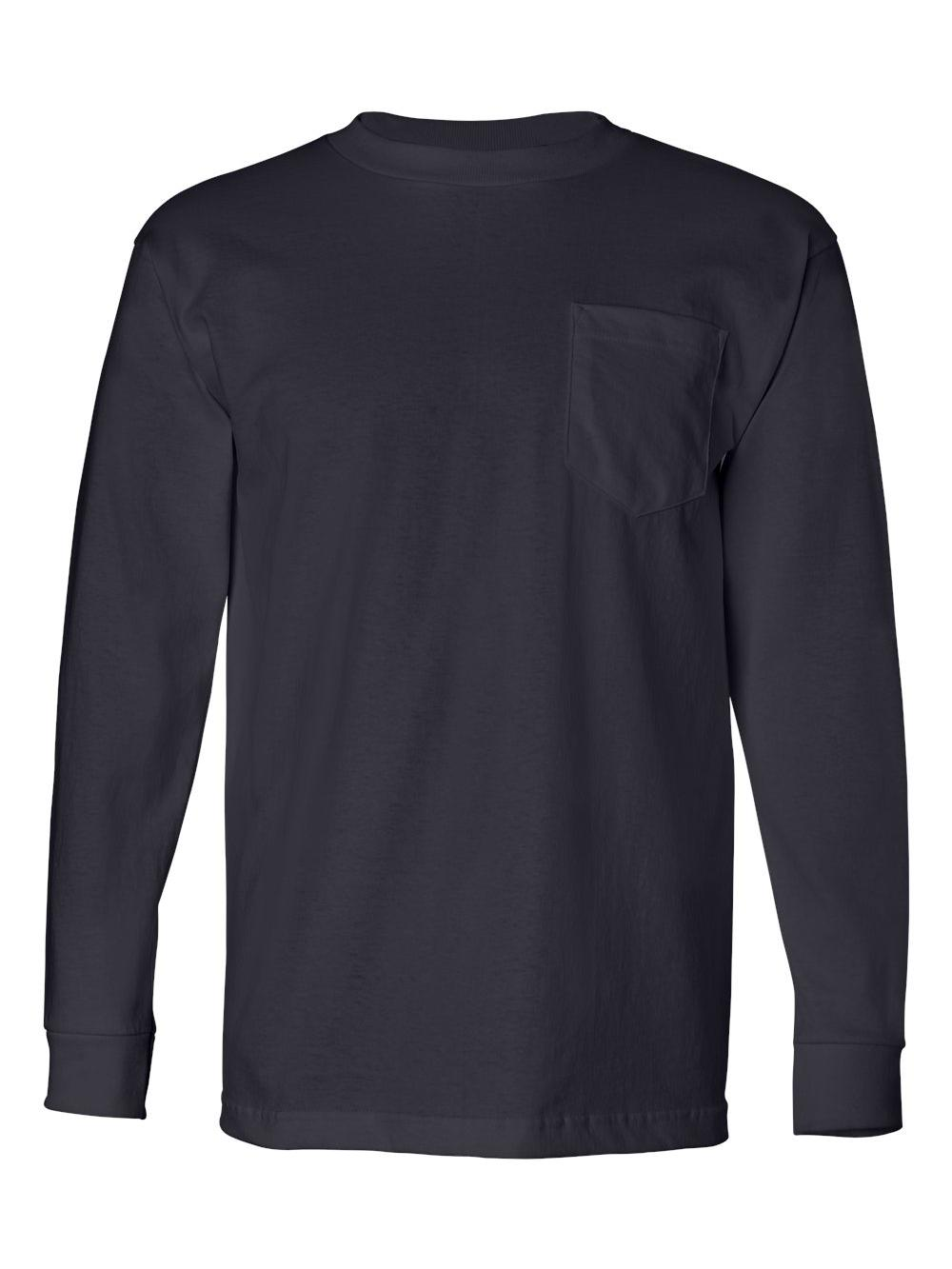 Bayside-USA-Made-Long-Sleeve-T-Shirt-with-a-Pocket-8100 thumbnail 15