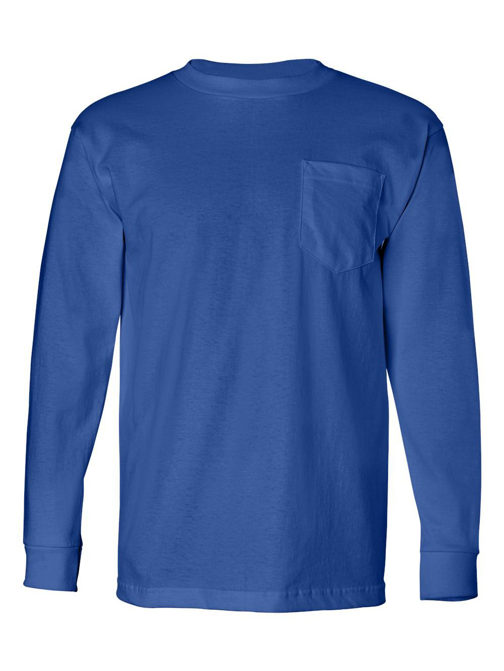 Bayside-USA-Made-Long-Sleeve-T-Shirt-with-a-Pocket-8100 thumbnail 21