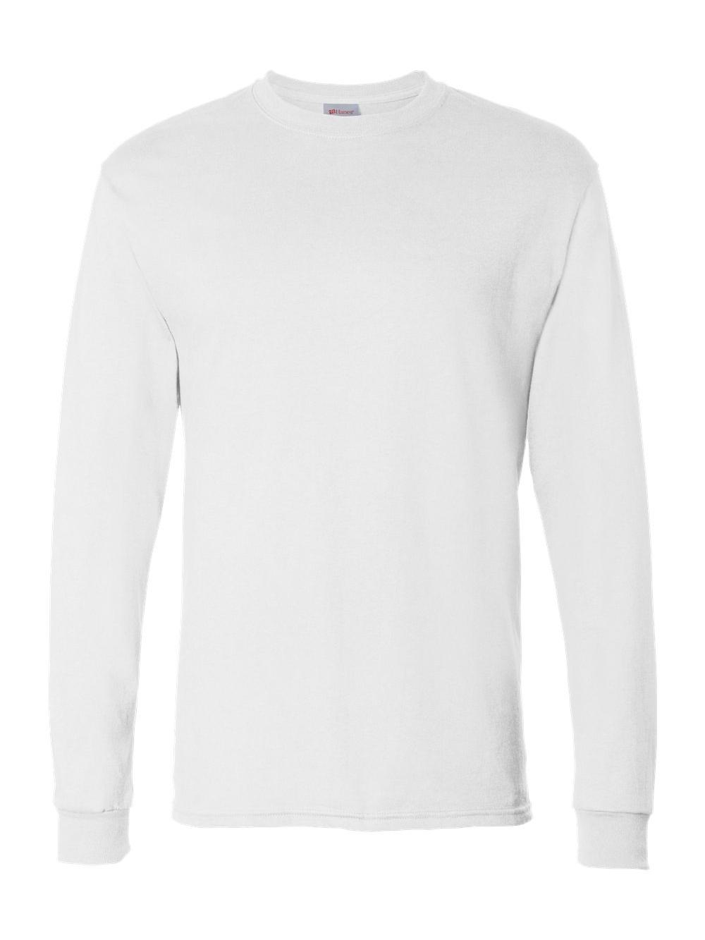 b975214e Hanes Blank ComfortSoft Cotton Heavyweight Long Sleeve T Shirt 5286 ...