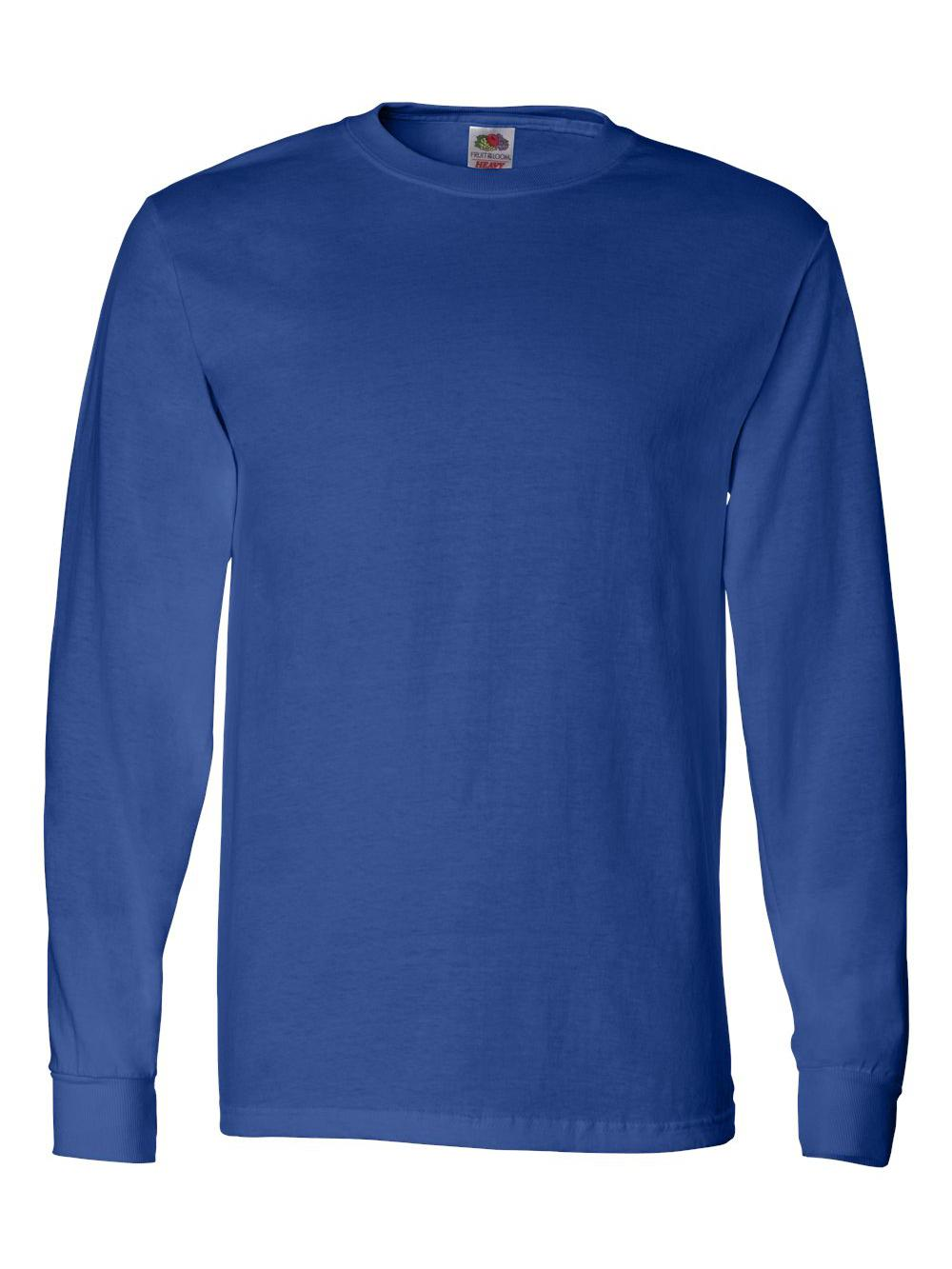 Fruit-of-the-Loom-HD-Cotton-Long-Sleeve-T-Shirt-4930R thumbnail 69
