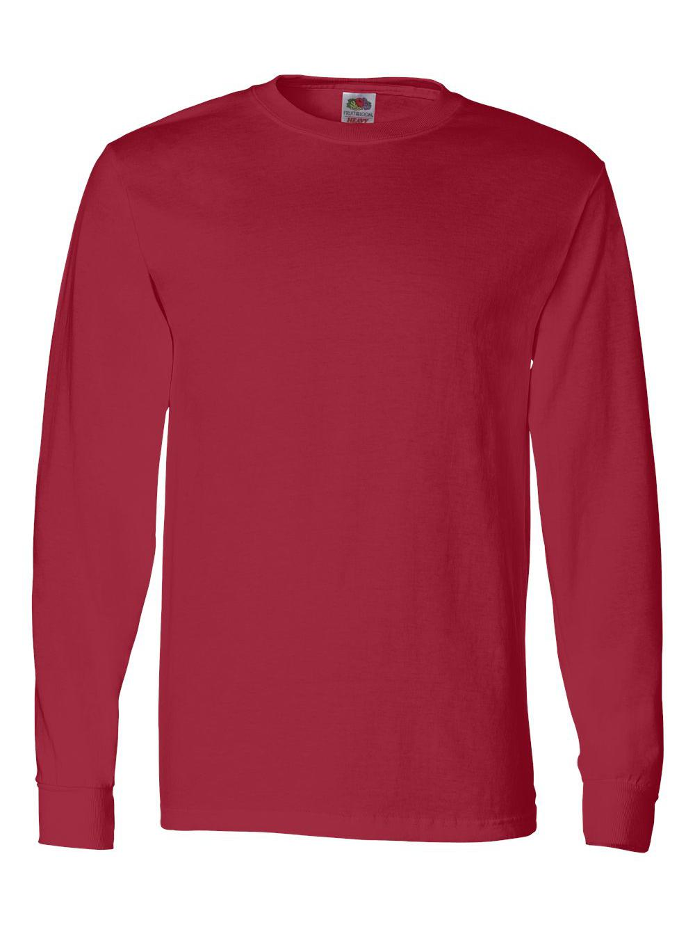 Fruit-of-the-Loom-HD-Cotton-Long-Sleeve-T-Shirt-4930R thumbnail 75