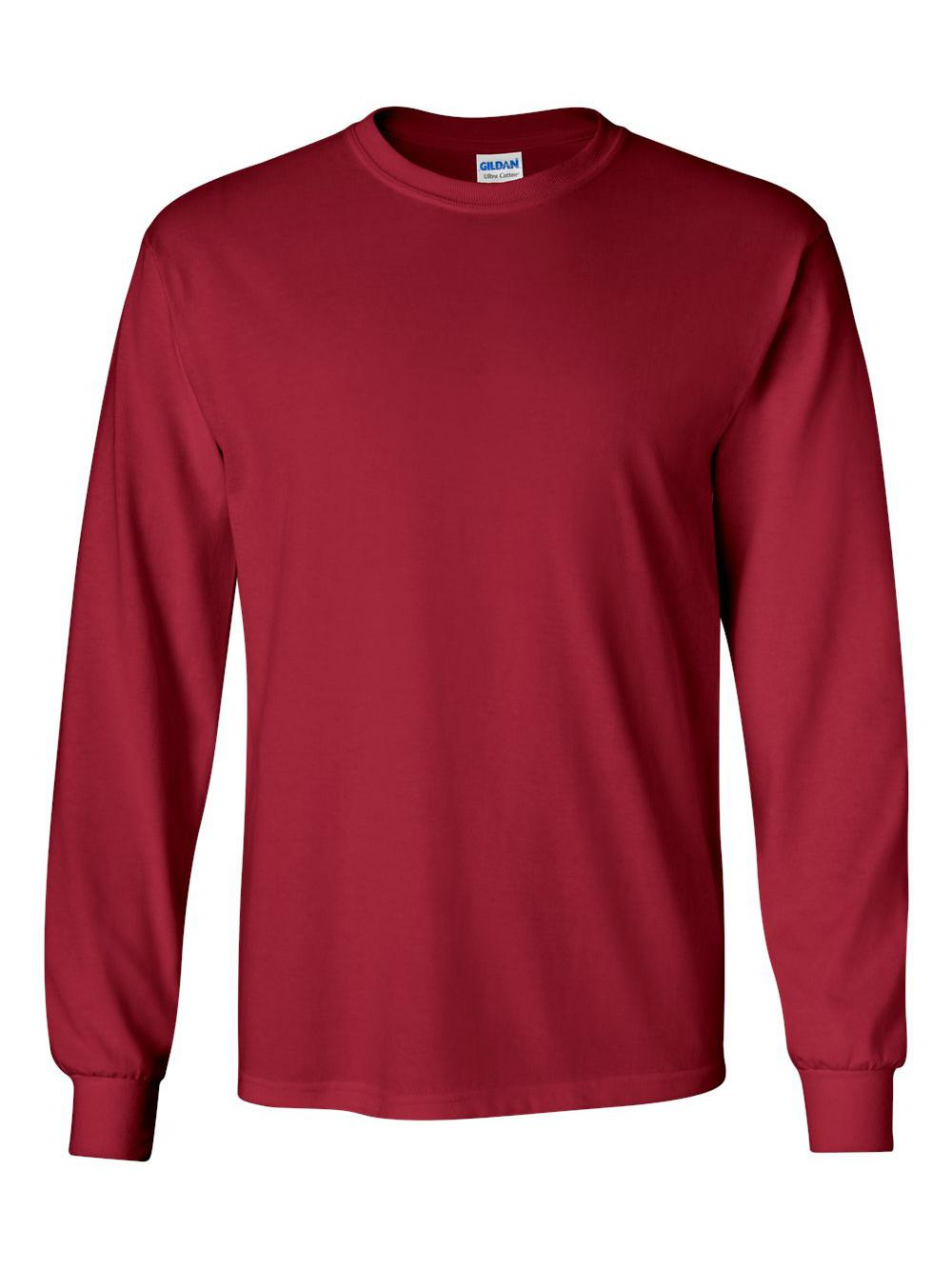 Gildan-Ultra-Cotton-Long-Sleeve-T-Shirt-2400 thumbnail 9