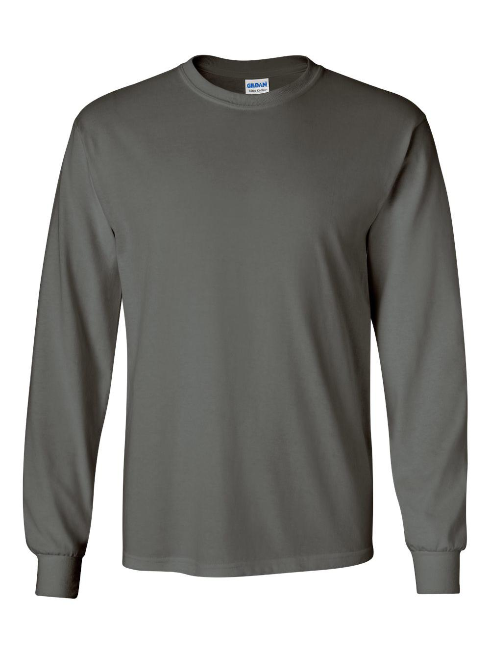 Gildan-Ultra-Cotton-Long-Sleeve-T-Shirt-2400 thumbnail 15