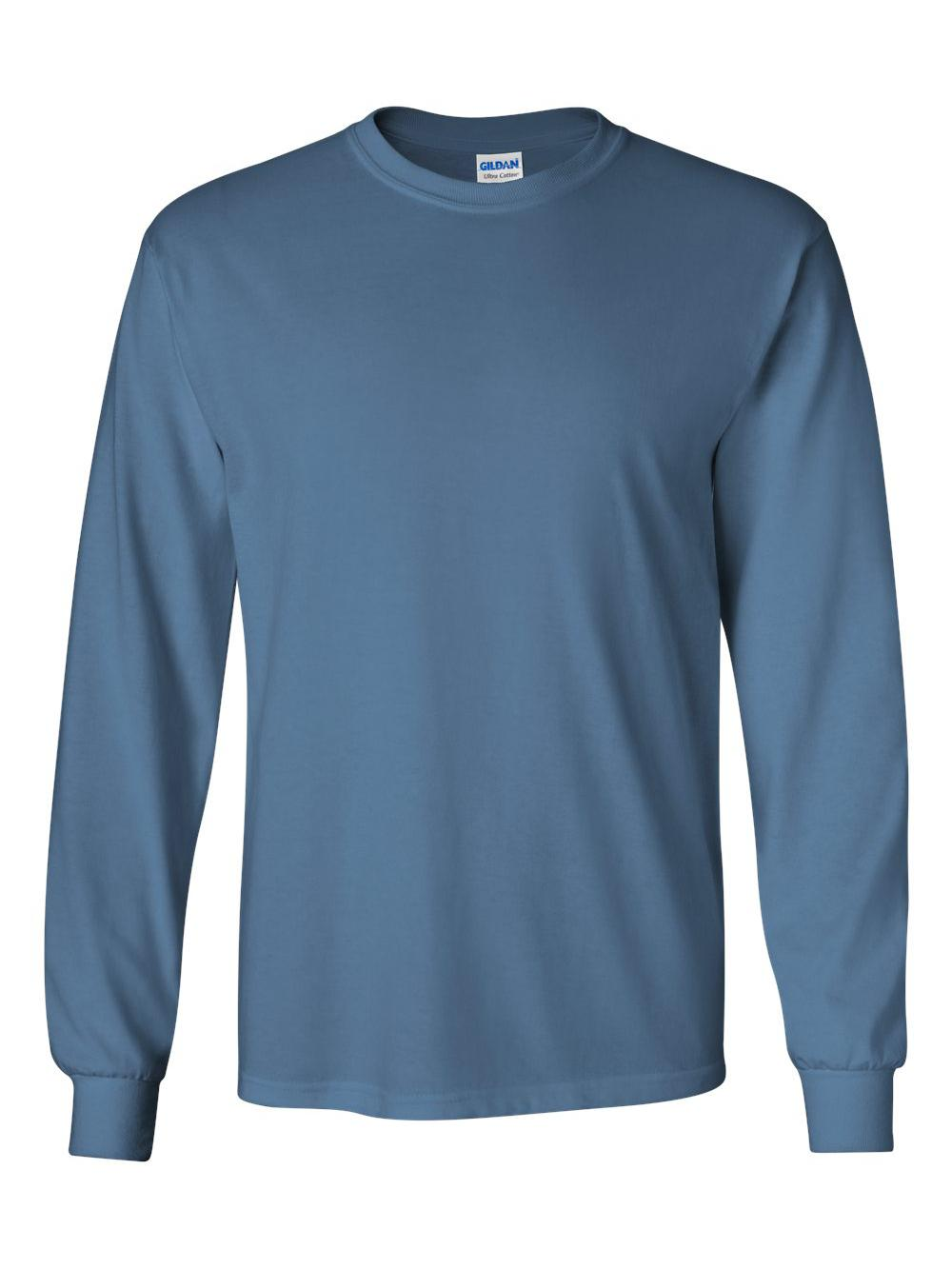 Gildan-Ultra-Cotton-Long-Sleeve-T-Shirt-2400 thumbnail 30