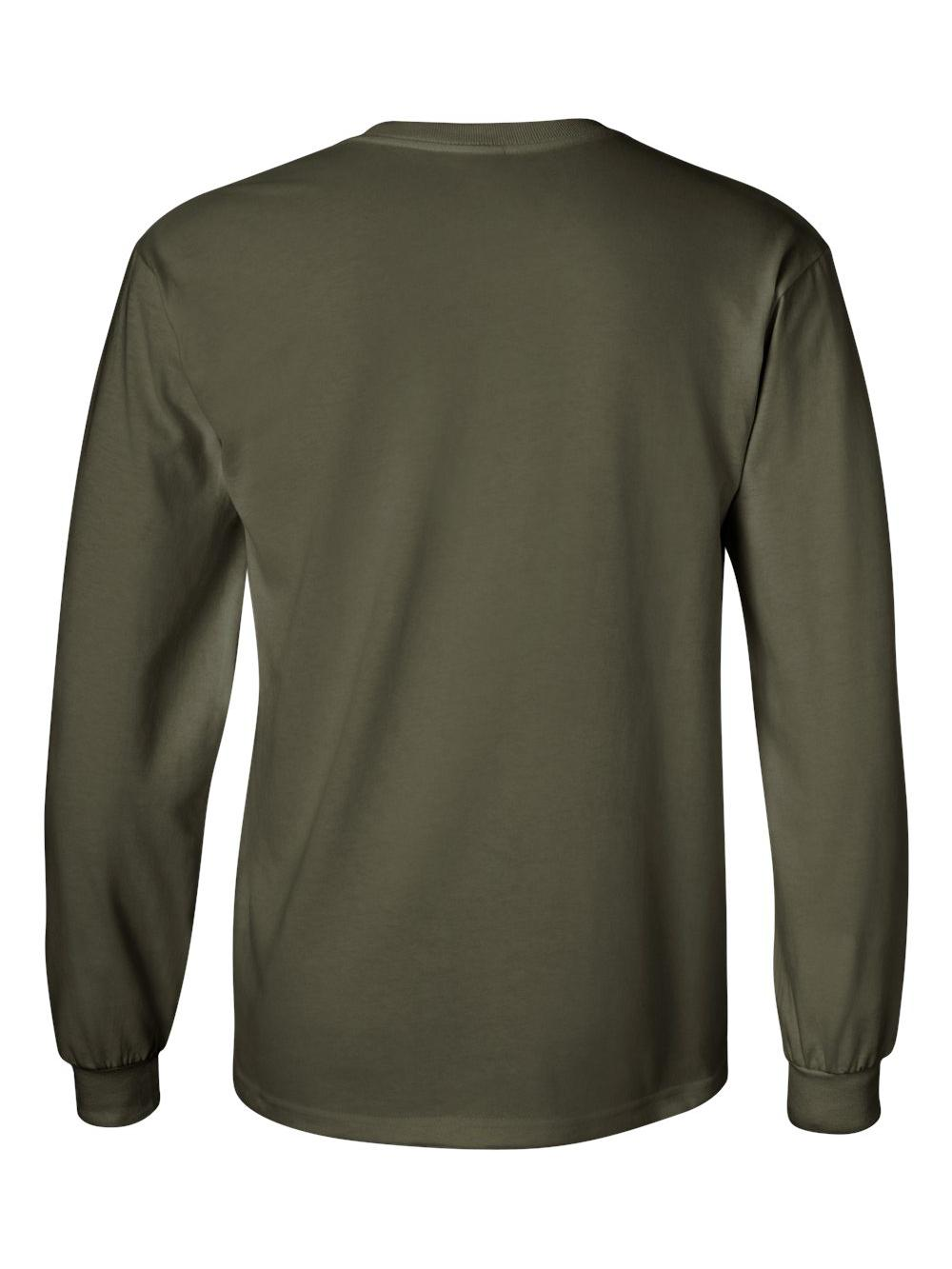 Gildan-Ultra-Cotton-Long-Sleeve-T-Shirt-2400 thumbnail 46