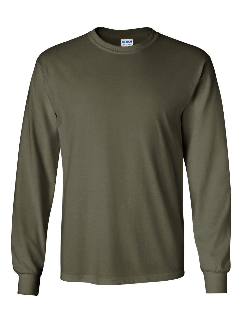Gildan-Ultra-Cotton-Long-Sleeve-T-Shirt-2400 thumbnail 45