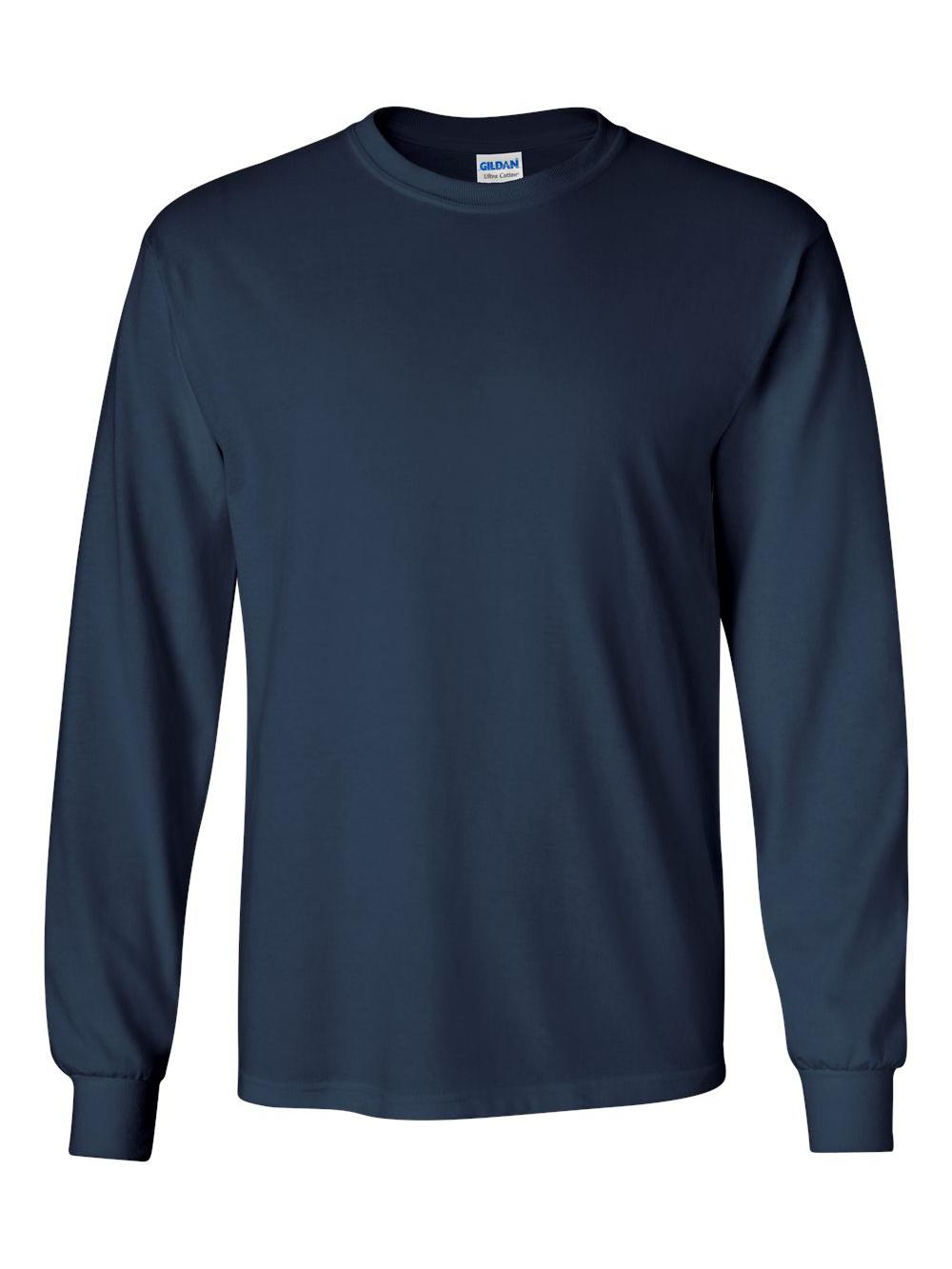 Gildan-Ultra-Cotton-Long-Sleeve-T-Shirt-2400 thumbnail 51