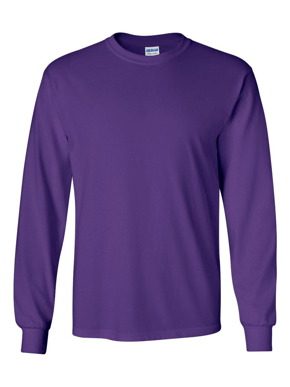 Gildan-Ultra-Cotton-Long-Sleeve-T-Shirt-2400 thumbnail 57