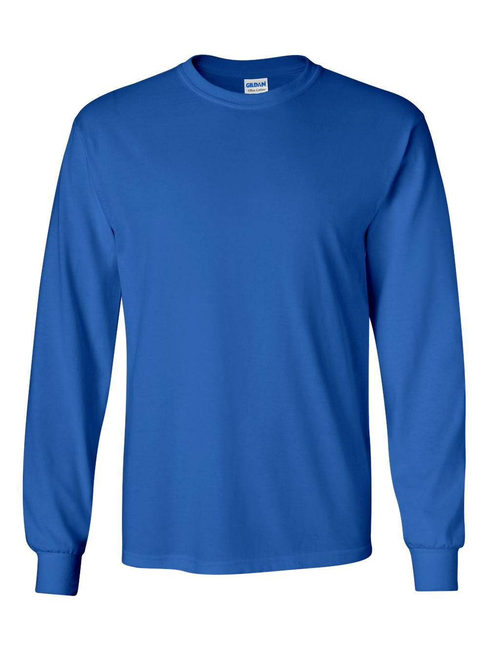 Gildan-Ultra-Cotton-Long-Sleeve-T-Shirt-2400 thumbnail 63