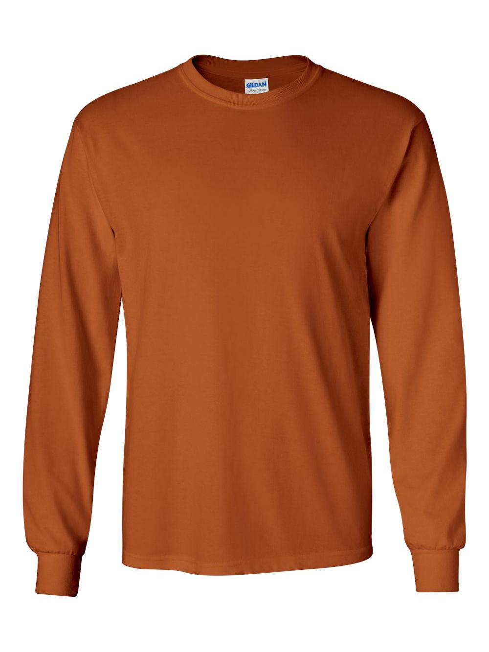 Gildan-Ultra-Cotton-Long-Sleeve-T-Shirt-2400 thumbnail 81