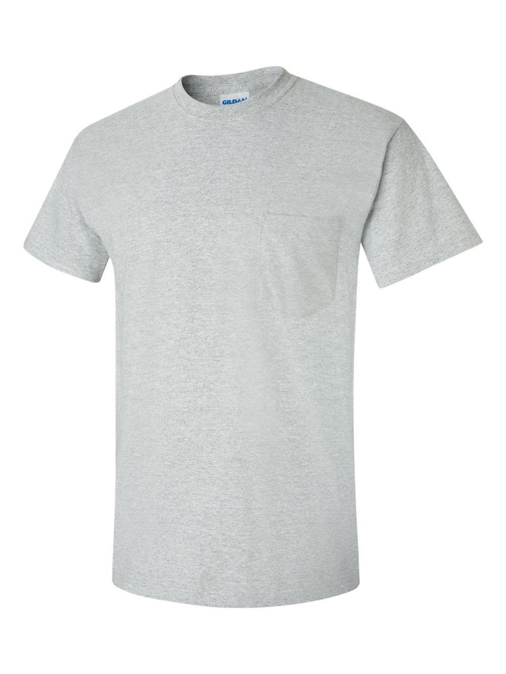Gildan-Ultra-Cotton-T-Shirt-with-a-Pocket-2300 thumbnail 42