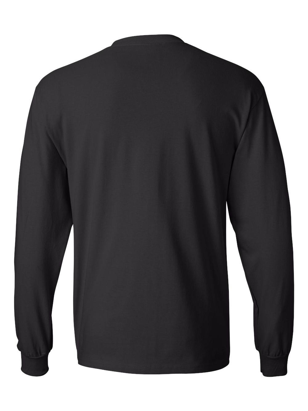 Hanes-Beefy-T-Long-Sleeve-T-Shirt-5186 thumbnail 7