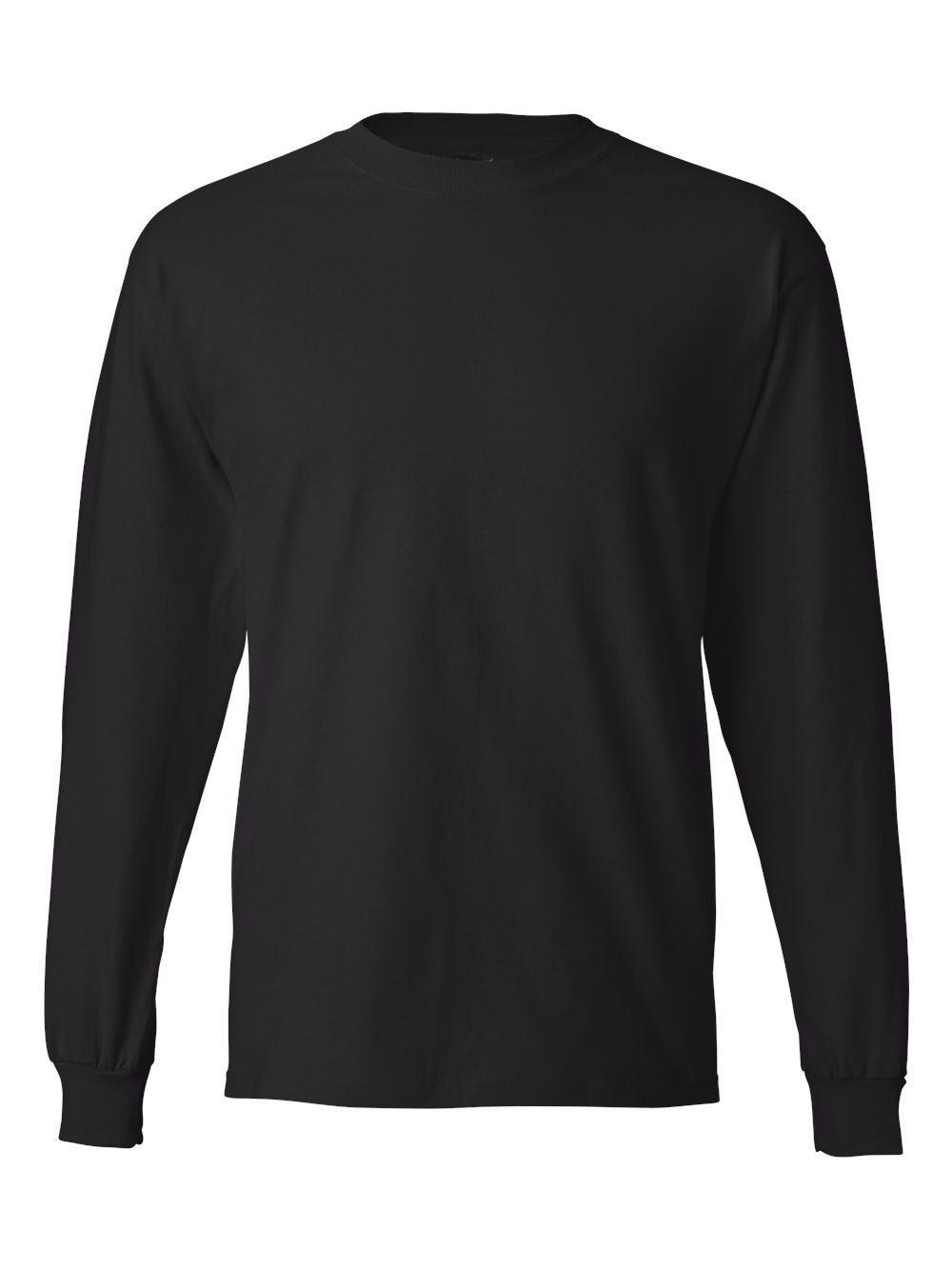 Hanes-Beefy-T-Long-Sleeve-T-Shirt-5186 thumbnail 6