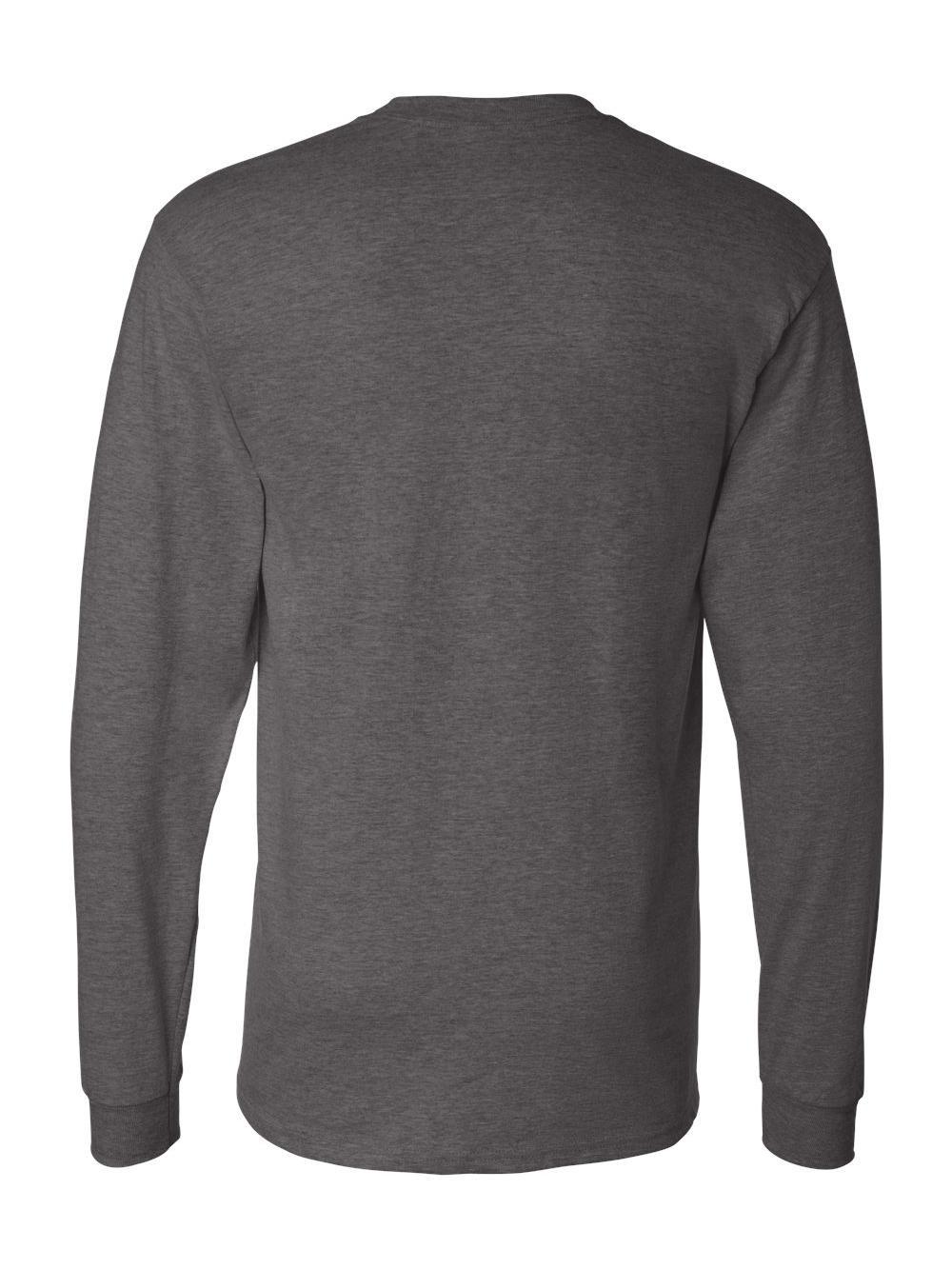 Hanes-Beefy-T-Long-Sleeve-T-Shirt-5186 thumbnail 16