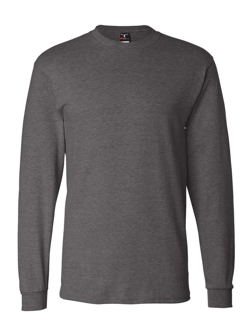 Hanes-Beefy-T-Long-Sleeve-T-Shirt-5186 thumbnail 15