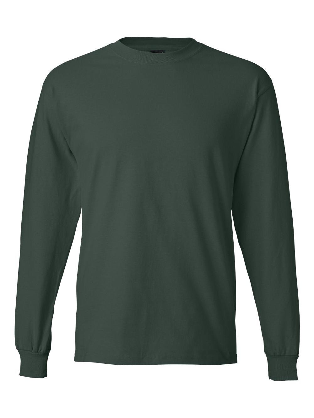 Hanes-Beefy-T-Long-Sleeve-T-Shirt-5186 thumbnail 24