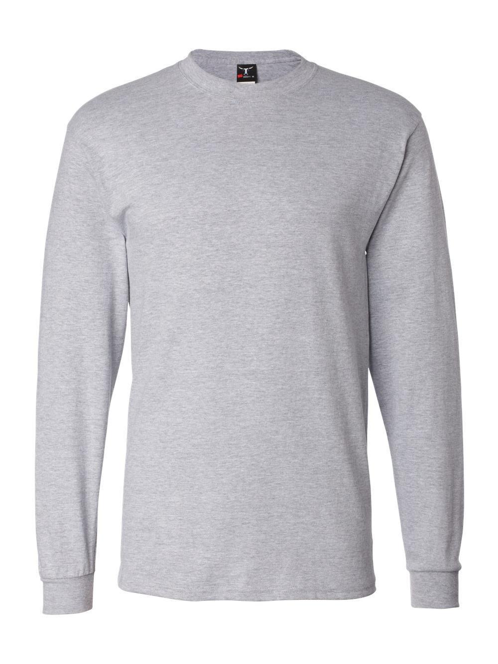 Hanes-Beefy-T-Long-Sleeve-T-Shirt-5186 thumbnail 33