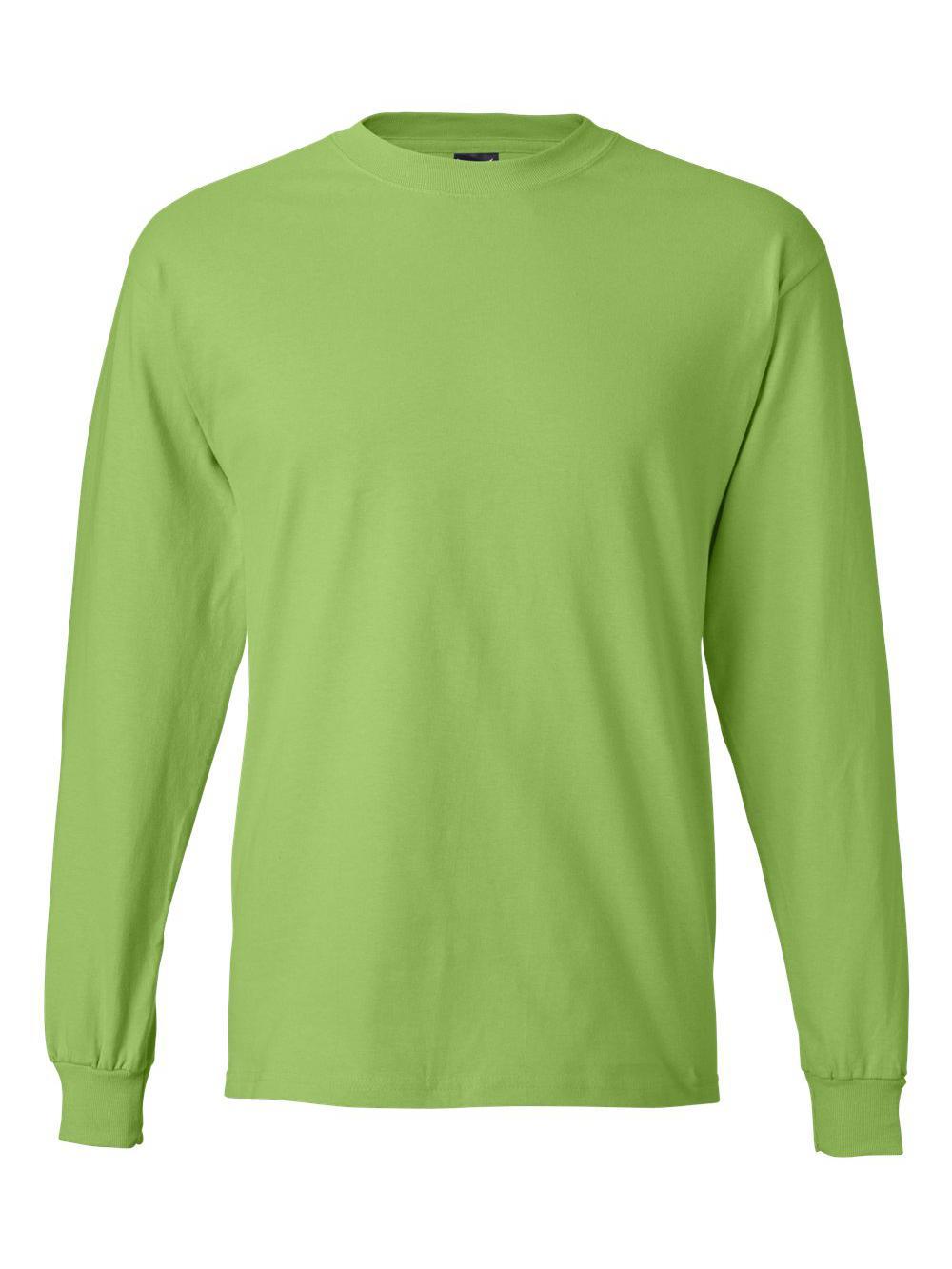 Hanes-Beefy-T-Long-Sleeve-T-Shirt-5186 thumbnail 36