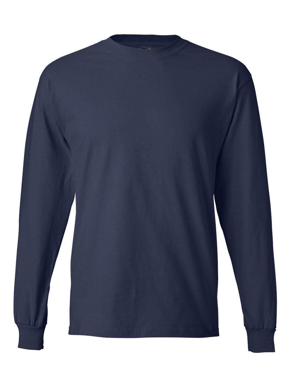 Hanes-Beefy-T-Long-Sleeve-T-Shirt-5186 thumbnail 39