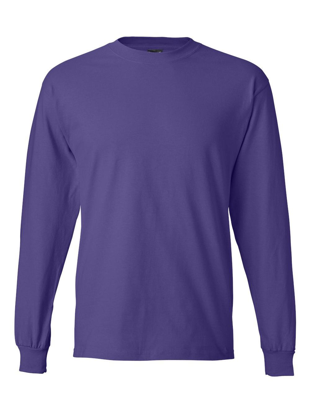 Hanes-Beefy-T-Long-Sleeve-T-Shirt-5186 thumbnail 45