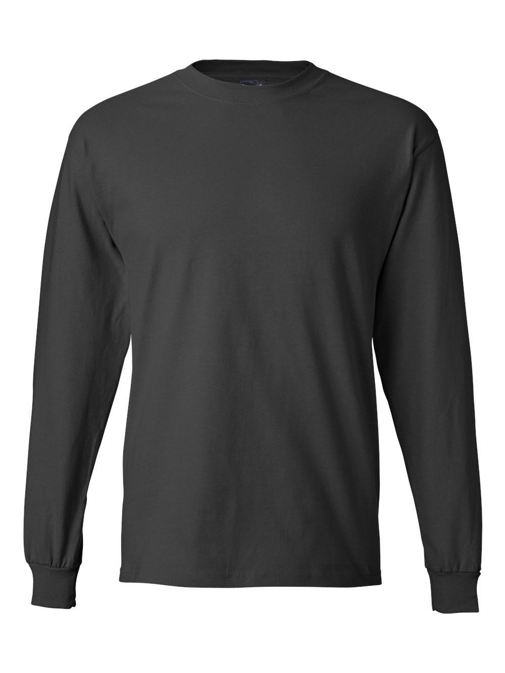 Hanes-Beefy-T-Long-Sleeve-T-Shirt-5186 thumbnail 48