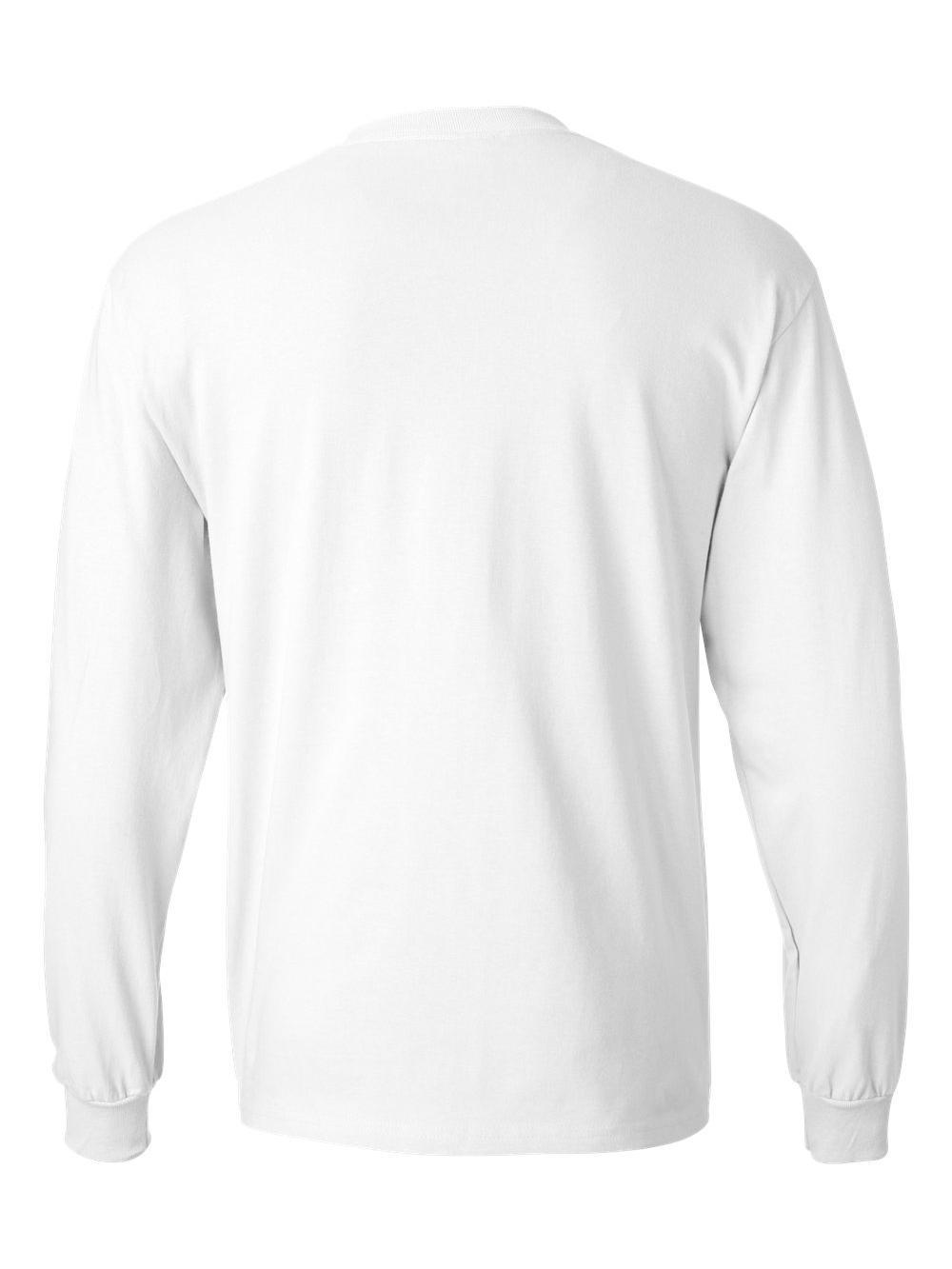 Hanes-Beefy-T-Long-Sleeve-T-Shirt-5186 thumbnail 55