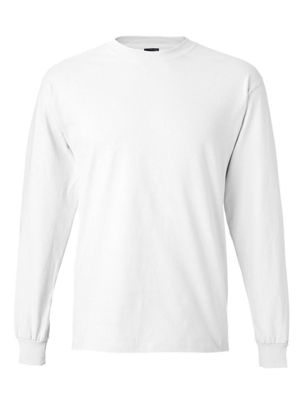 Hanes-Beefy-T-Long-Sleeve-T-Shirt-5186 thumbnail 54