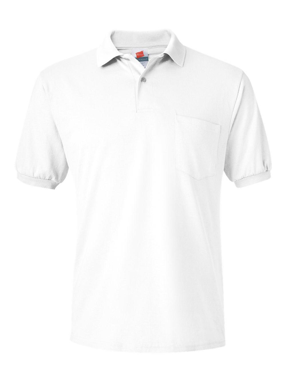 Hanes Comfortblend Ecosmart Jersey Mens Polo With Pocket Style 504